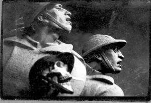 Detalj figuralne grupe Spomenika palim Šumadincima - tijek izrade